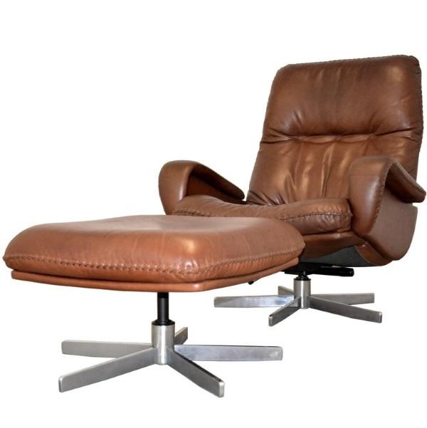 XX SOLD XX De Sede S 231 James Bond Swivel Armchair U0026 Ottoman   The  Cambridge Chair Company
